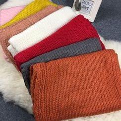 Follow Me - Plain Knit Scarf