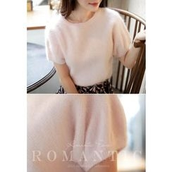 MyFiona - Short-Sleeve Furry Sweater