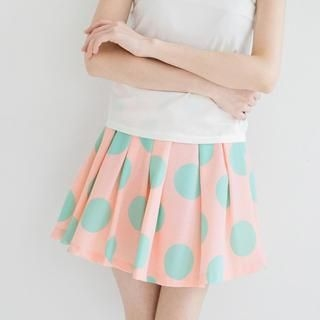 Tokyo Fashion - Polka Dot Pleated A-Line Skirt