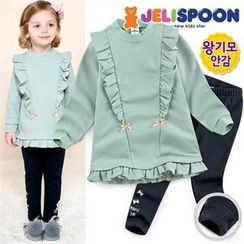 JELISPOON - Girls Set: Frilled Top + Leggings