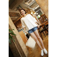 Lemite - 3/4-Sleeve Lace Top
