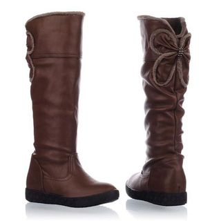 Pangmama - Platform Fleece Long Boots