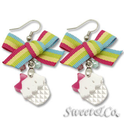 Sweet & Co. - Rainbow Ribbon Swarovski Miss Cupcake Earrings