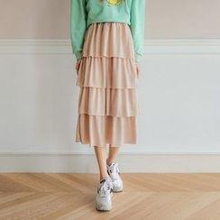 Seoul Fashion - Chiffon Tiered Skirt