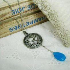 MyLittleThing - Silver Pocket Watch Necklace