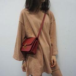 Shopherd - Mock Neck Long-Sleeve T-Shirt Dress