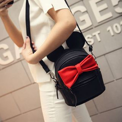 Youme - Faux Leather Bow Backpack