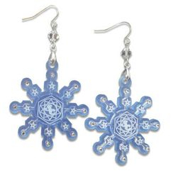 Sweet & Co. - Sweet&Co. Blue Snow Flurry Swarovski Crystal Earrings