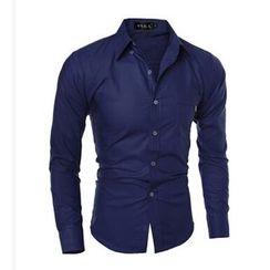 Hansel - Plain Long-Sleeve Shirt