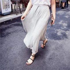 QNIGIRLS - Tie-Waist Long Skirt