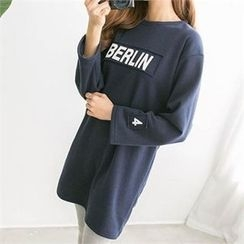 PIPPIN - Lettering Brushed Fleece Dress