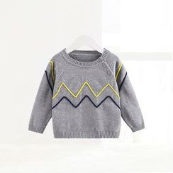 ciciibear - Kids Chevron Knit Top