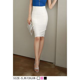 UUZONE - High-Waist Pencil Skirt