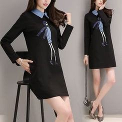 Ekim - Long-Sleeve A-Line Dress