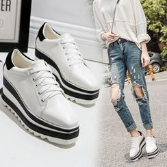 Anran - Platform Canvas Sneakers