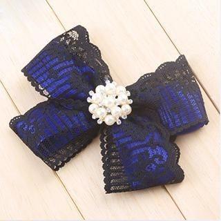 Linglady - Faux-Pearl Ribbon Brooch