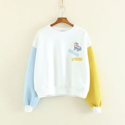 Mushi - Embellished Panel Sweatshirt
