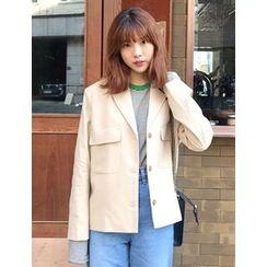 FROMBEGINNING - Flap-Pocket Single-Breasted Jacket
