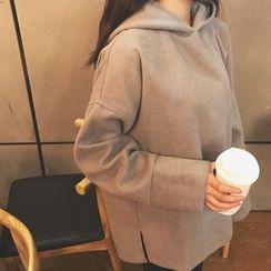 HL哈喽妹妹 - 纯色宽松连帽衫