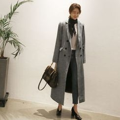 NANING9 - Double-Breasted Wool Blend Coat