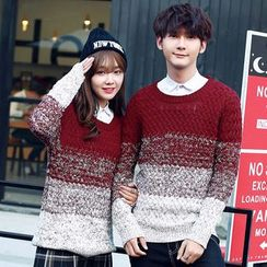 CASSY - Couple Matching Gradient Sweater