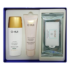 O HUI - Perfect Sun Green Special Set : Perfect Sun Green SPF50+ PA+++  50ml + Miracle Cleansing Foam 40ml + Clear Science Tender Cleansing Sheet 1pack