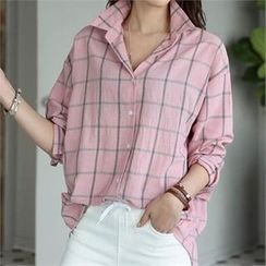 CHICFOX - Drop-Shoulder Check Shirt