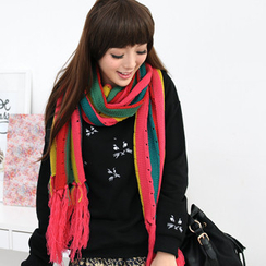 59 Seconds - Multicolour Striped Scarf