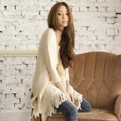 Tokyo Fashion - Fringed Long Sweater