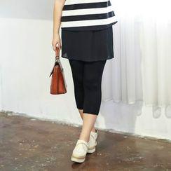 CAIDOBLE - Inset Skirt Leggings