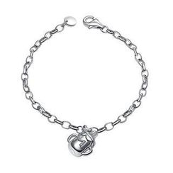 Bling Bling - Bling Bling Platinum Plated 925 Silver Lovely Baby Milk Bottle Bracelet
