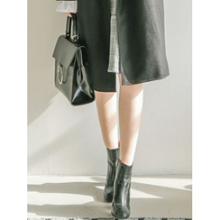 LOLOten - Notched-Lapel Double-Breasted Wool Blend Coat