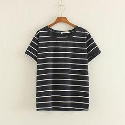 Mushi - Stripe Short-Sleeve T-Shirt