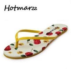 Hotmarzz - Cherry Print Flip-Flops