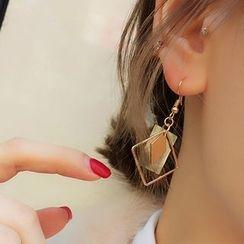 Jael - 波浪方形不对称耳环 / 耳挂