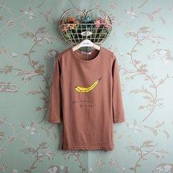 Kidora - 小童长袖香蕉印花T恤