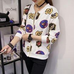 Century Girl - Print Zip Jacket