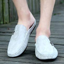 MARTUCCI - Genuine Leather Mule Loafers