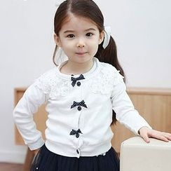 Cuckoo - Kids Lace Panel Cardigan