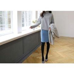 Hello sweety - Wool Blend Pencil Skirt