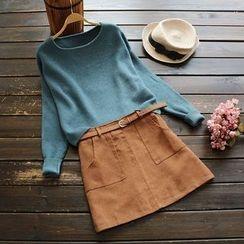 YOYO - Long-Sleeve Loose-Fit Knit Top