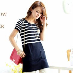 Tokyo Fashion - Striped Panel Knit Tunic