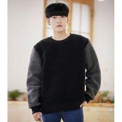 ABOKI - Fleeced-Line Sleeve Sweatshirt