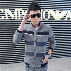 Denimic - Striped Buttoned Jacket