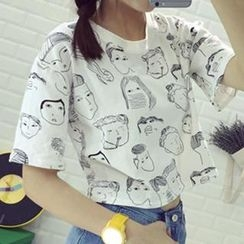 Dute - Short Sleeves Print T-shirt