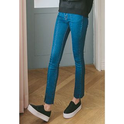REDOPIN - Slit-Side Boot-Cut Jeans