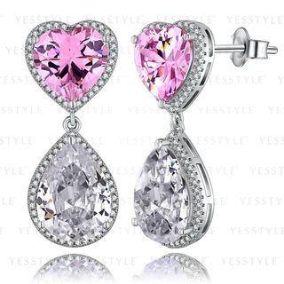 Glam-it! - Candy Heart Bling Earrings