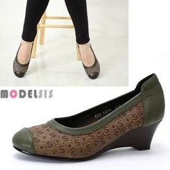 MODELSIS - Genuine Leather Wedges