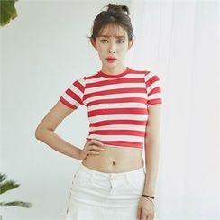 clubber - Short-Sleeve Striped T-Shirt