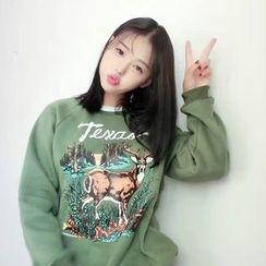 Tulander - Deer Print Sweatshirt